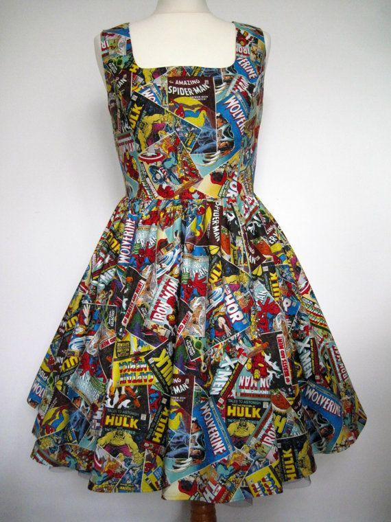 73 Besten Avengers Bilder Auf Pinterest: Marvel Comics Dress Alternative Handmade Geeky By