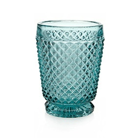 Shelley Panton — Diamond Glass Tumblers - Blue