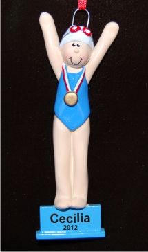 12 best Swimming Ornaments images on Pinterest   Personalized ...