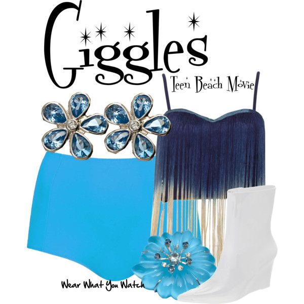 Inspired by Mollee Gray as Giggles in Disney's 2013 TV movie Teen Beach Movie.