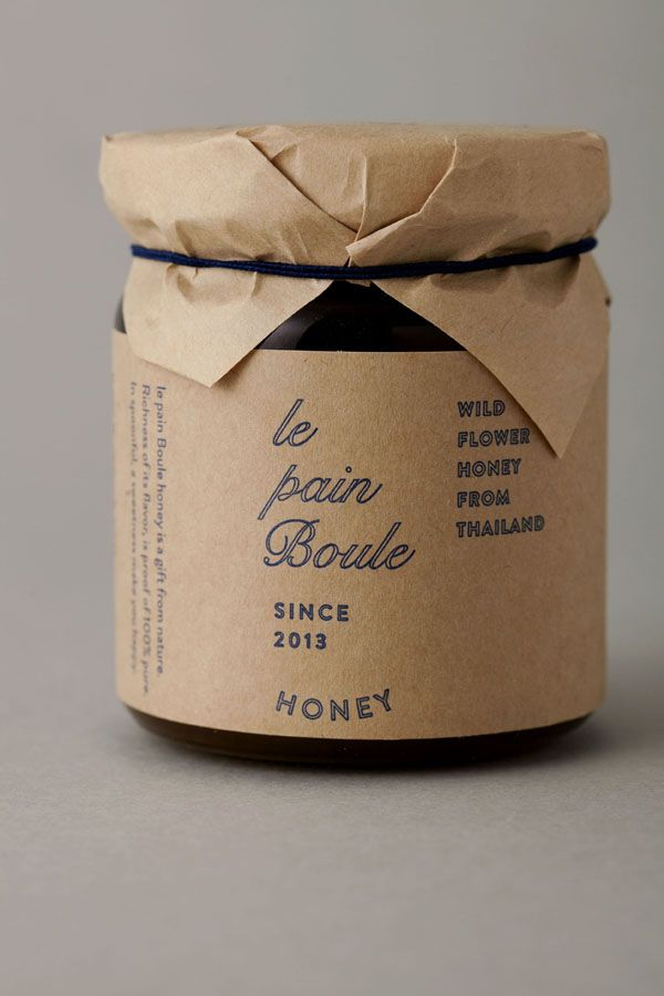 le pain boule / HONEY : brand logo & package design - credits : art direction & logo design : shun kawakami, artless / design: artless tokyo / client : YAMATO Co.,ltd.