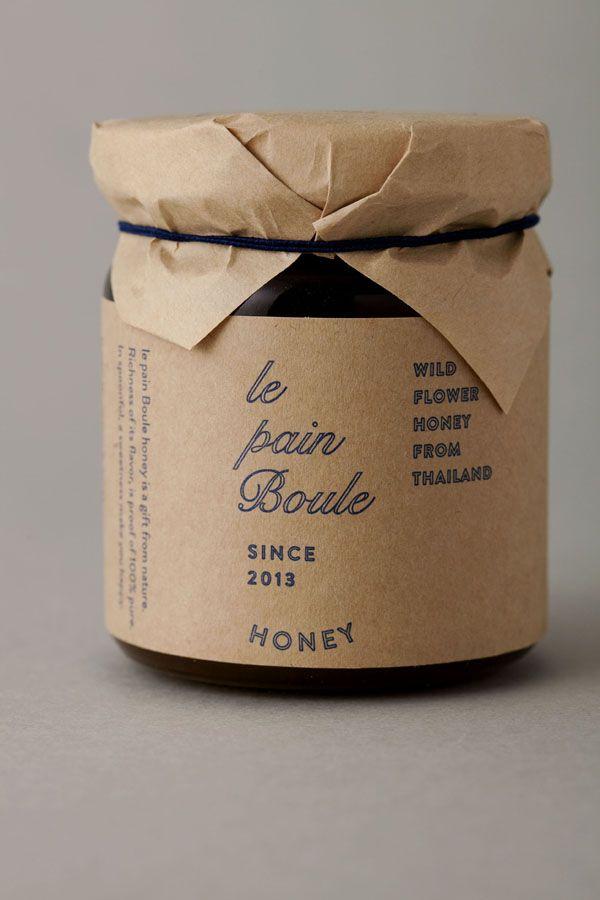le pain boule / HONEY : brand logo & package design - credits : art direction & logo design : shun kawakami, artless / design: artless tokyo / client : YAMATO Co.,ltd.