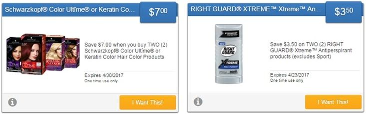 new right guard & schwarzkopf hair color savingstar offers...   activate the offers or sign up for savingstar here:   http://www.iheartcoupons.net/p/savingstar-ecoupons.html   #coupons #couponing #couponcommunity #deals
