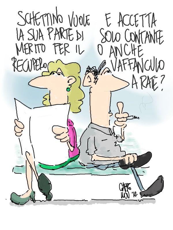 ITALOSAURI  vignette di Valeriano Cappello: a ciascuno il suo