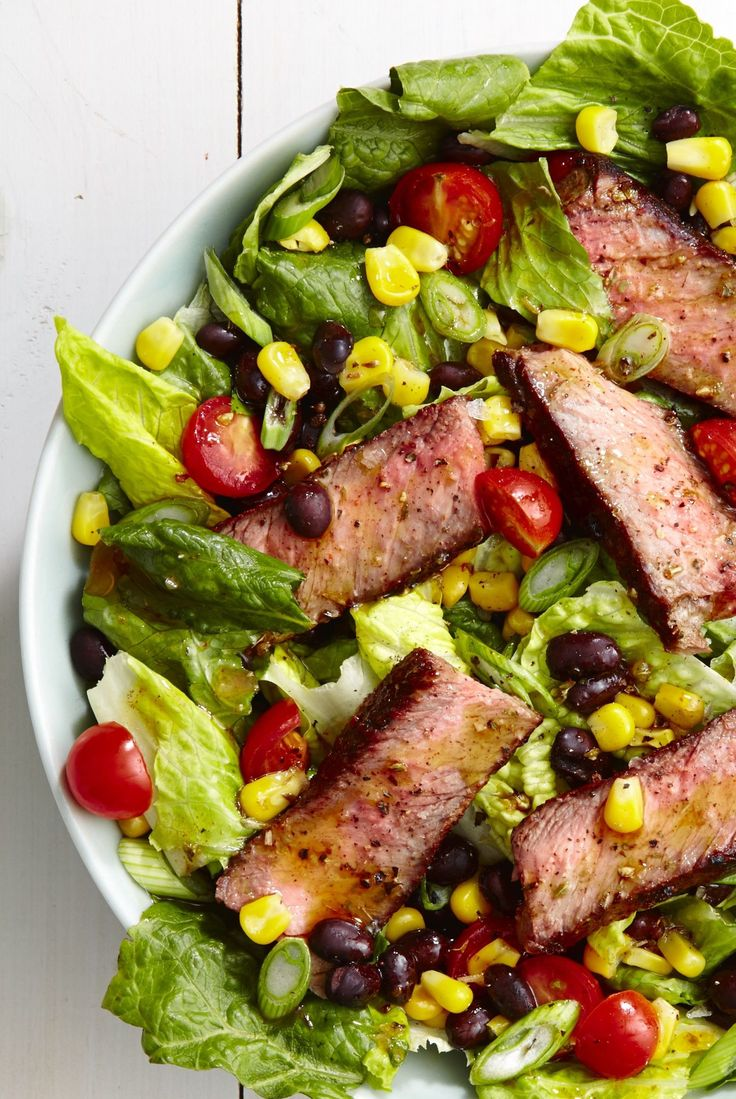 Taco salads, Steaks and Steak tacos on Pinterest
