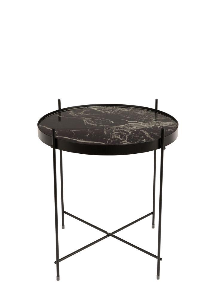 Stolik CUPID czarny marmur 43 cm - ZUIVER 2300080 cobostore