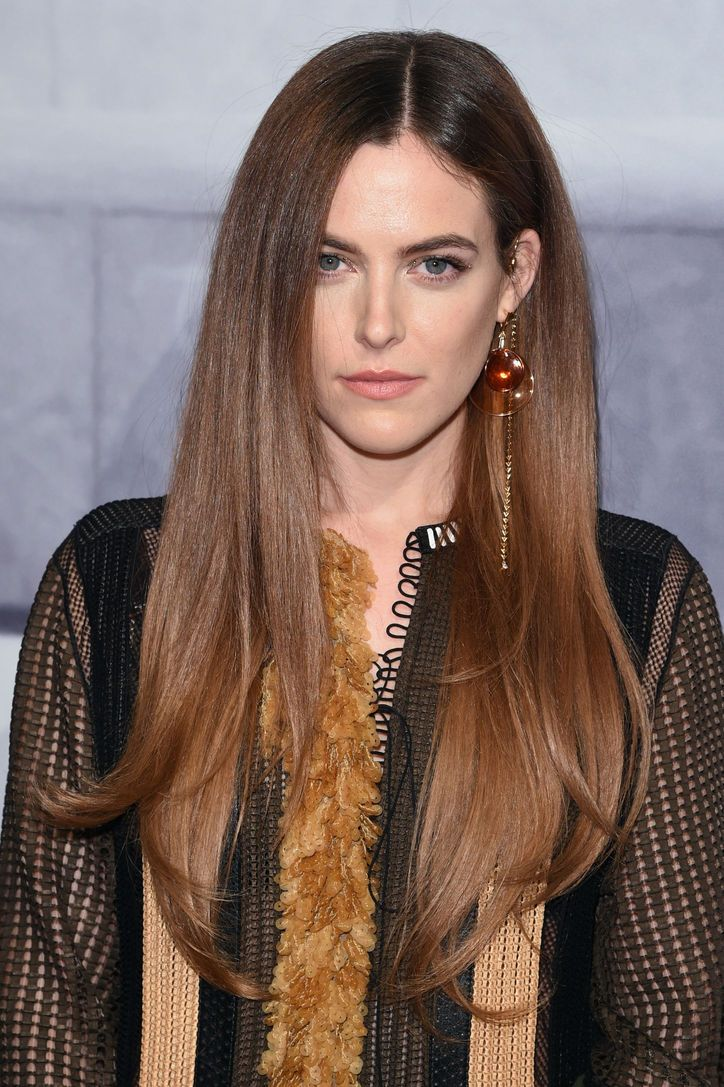 Riley Keough's super-sleek, shiny straight hair