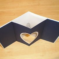 handmade card ... Tunnel Cards - tutorial - bjl ... luv the heart shaped opening ...