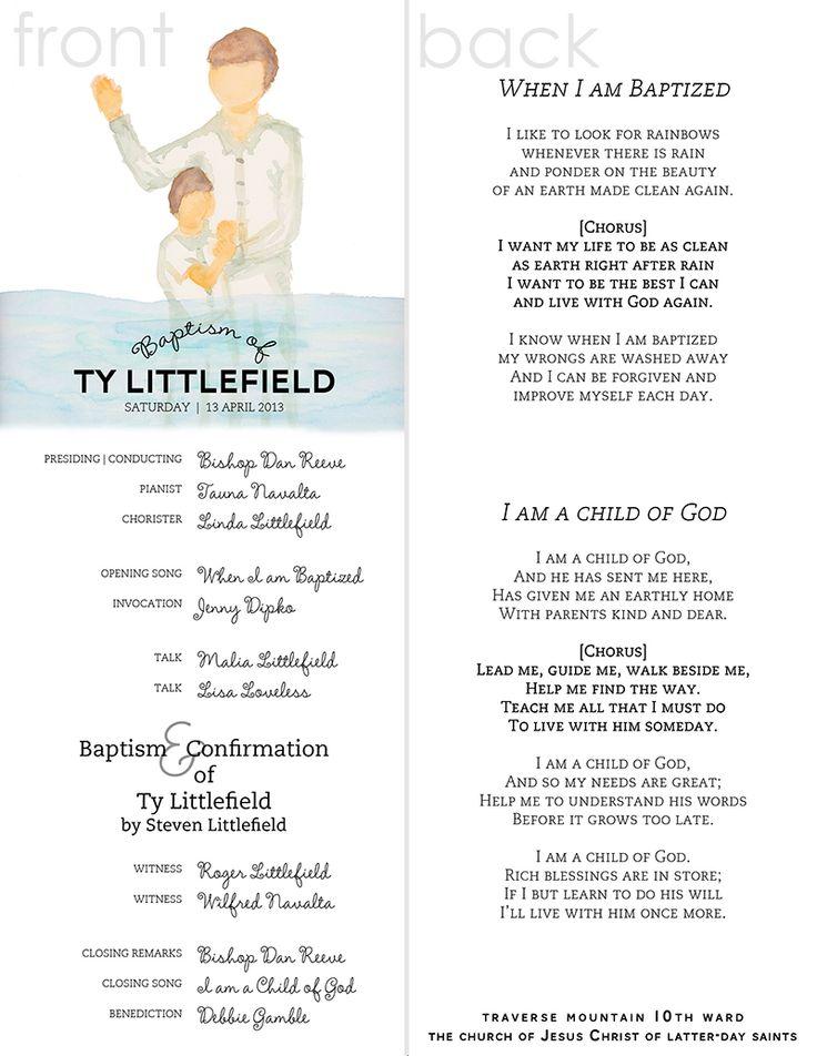 Baptism Invitations Lds