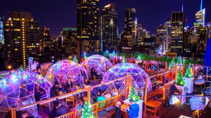 The Magical Rooftop In New York That Turns Into An Igloo