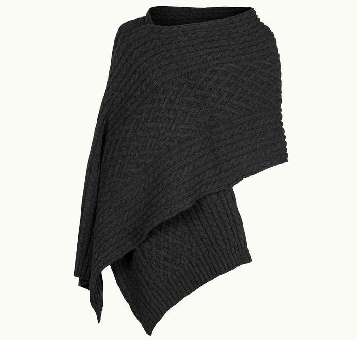 Channing In Charcoal, Shawl Made From Wool & Cashmere | John Smedley Official Store