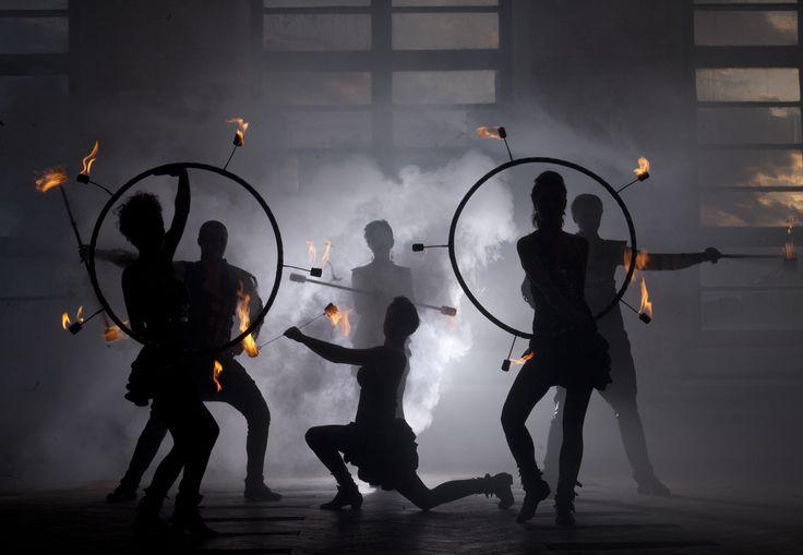 Firedancers in shadows - Anta Agni FIRE Show photosession. http://antaagni.com/fire-show/