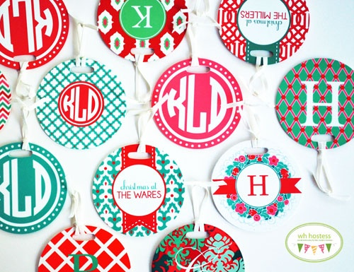 personalized ornaments by @WH Hostess