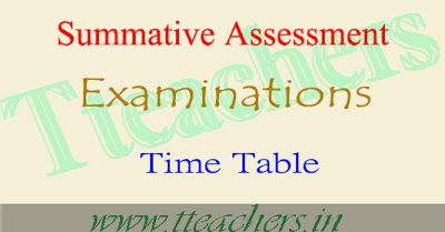 TS SA1 TimeTable 2016-17 Summative Assessment exam dates  : Board of School…