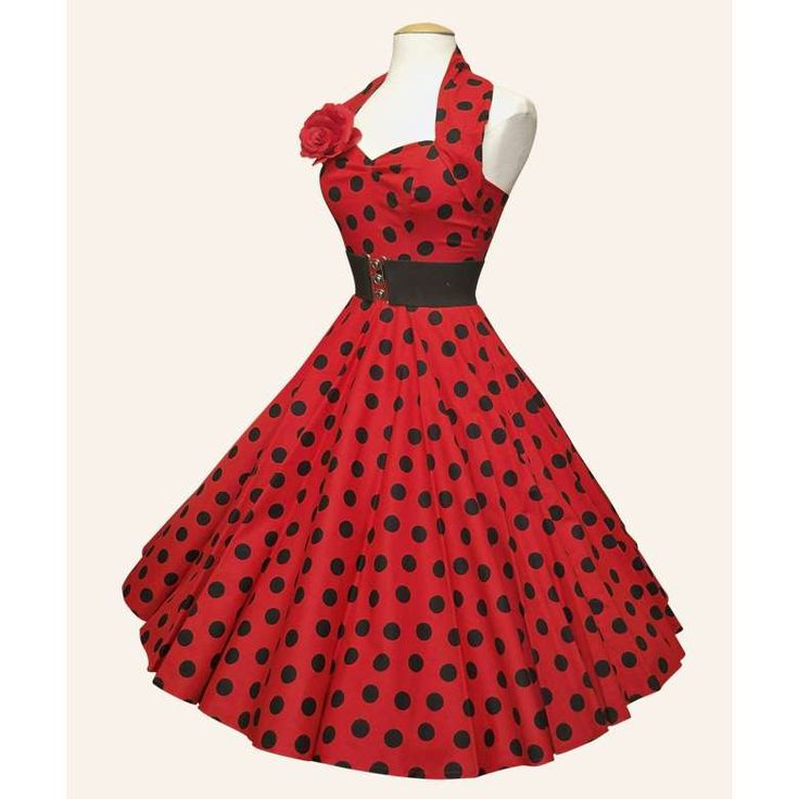 dresses from the 50s | 50s Halterneck Polka dot Dress from Vivien of Holloway | 1950s Dresses ...