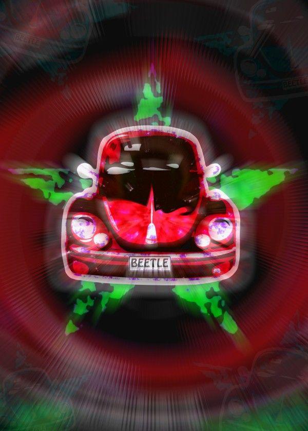'The Beetle Effect' @displate #volkswagen #vwbeetle #cars #nostalgia #sixties #herbie #retro #classiccars #iconic