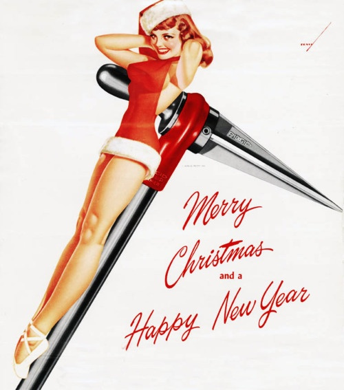 George Petty Pin Up Girls: 68 Best Vintage Christmas Cards And Posters Images On