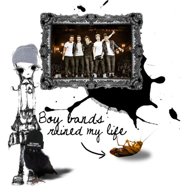 """""""Boy bands ruined my life...."""" by kiki-parker on Polyvore"""