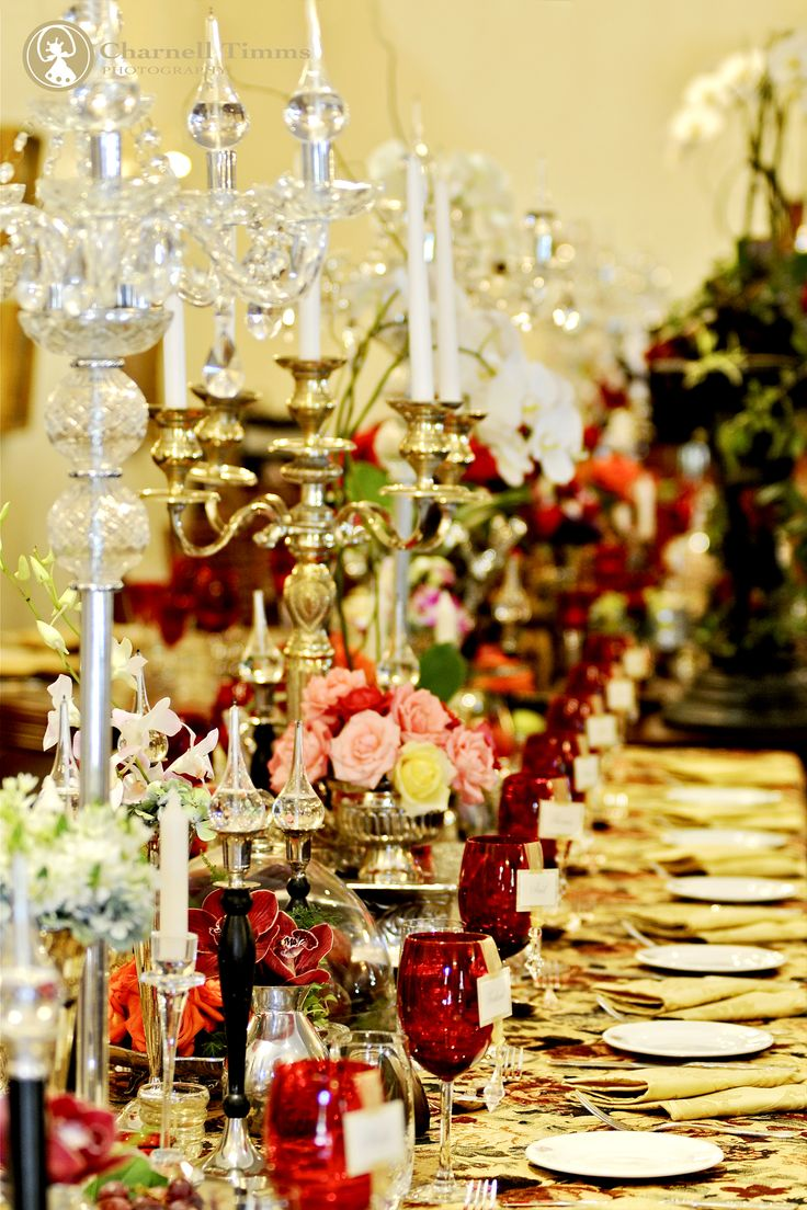 Ornate and deeply rich colours at Chris and Johan's baroque themed weddig. Charnell Timms Photography