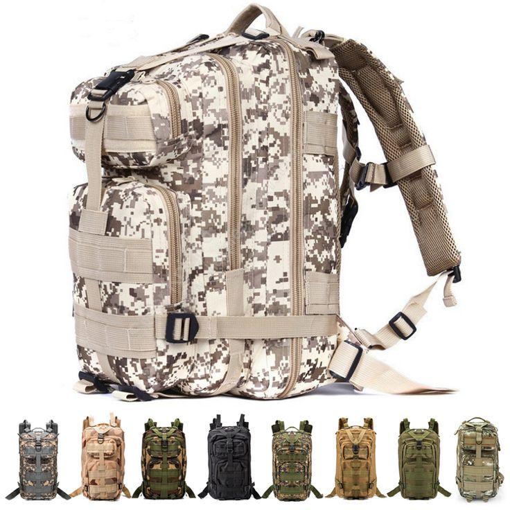 3 P Ransel Taktis Militer Oxford Olahraga Tas Tas Olahraga Tas 30L untuk Camping Traveling Hiking Trekking 600D Nilon