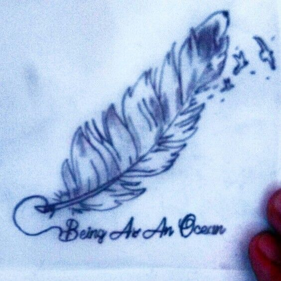 #tatto pluma.   Being as an ocean