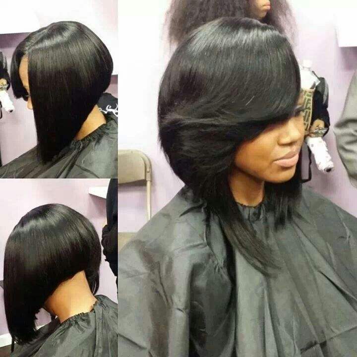 Sew In Bob Hair Nails And Make Up Pinterest Bobs