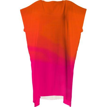 Beautiful dark orange and hot pink all occasion dress
