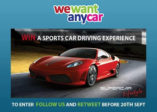 Are you following us on Twitter? If not, click this link and enter our #competition - https://twitter.com/WeWantAnyCar RT and follow wewantanycar.com to #win a sports car driving experience http://www.wewantanycar.com/news/index.php/win-a-sports-car-driving-experience-with-supercar-lifestyle/
