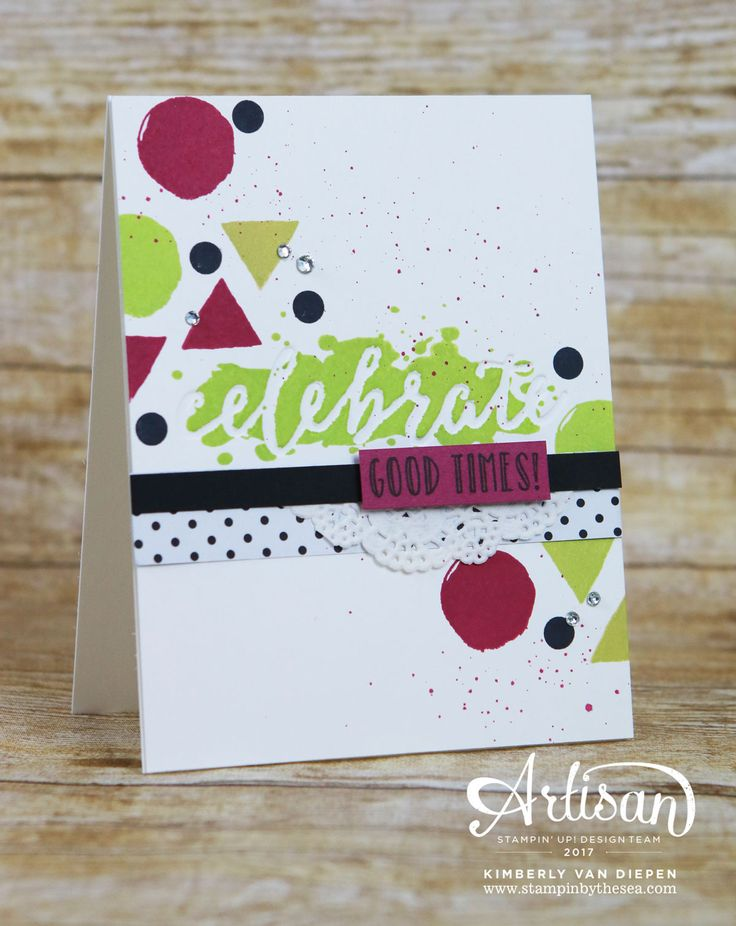Celebrate any occasion using the Happy Celebrations stamp set.