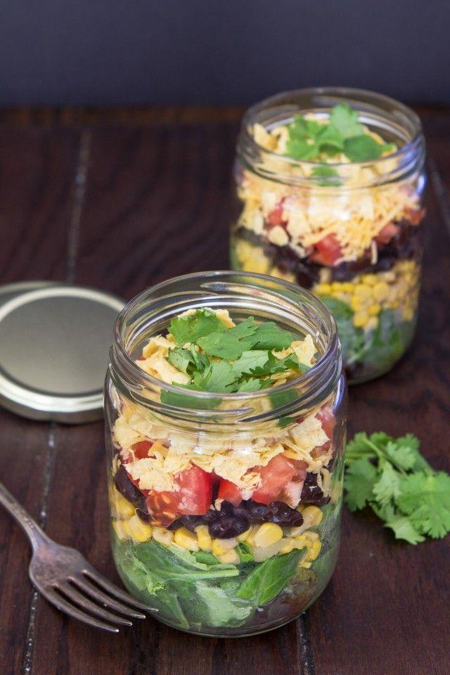 Mexicaanse Salade in een Mason Jar/Mexican salad in a jar