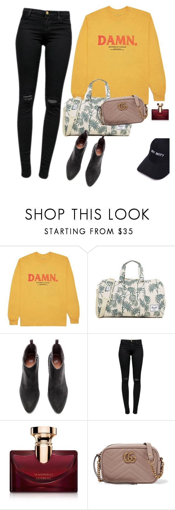 """Can't Afford"" by chelsofly on Polyvore featuring KENNY, Herschel Supply Co., J Brand, Bulgari and Gucci"