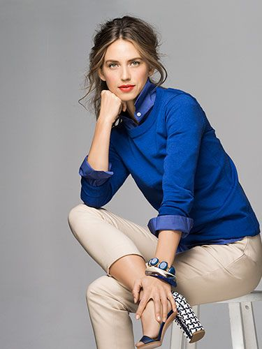 This shade of blue is vibrant and looks amazing against any skin tone.Time to whip out those khaki's and pair them with a cobalt sweater.