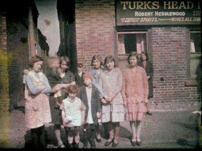 Autochrome: Stephen Pegler. The Turks Head. Retford. 1930.