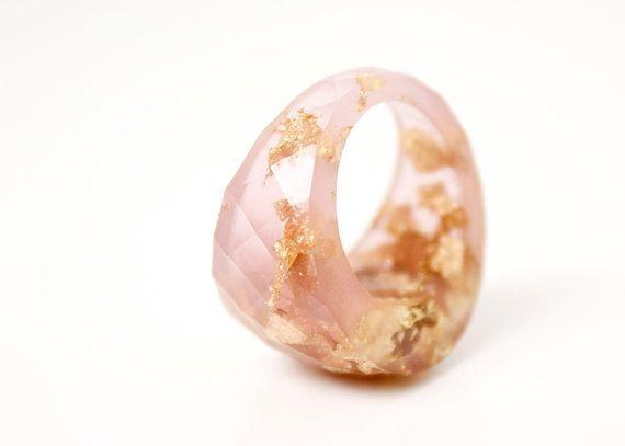 roze instructie ring ronde grootte 5.5 eco hars door RosellaResin