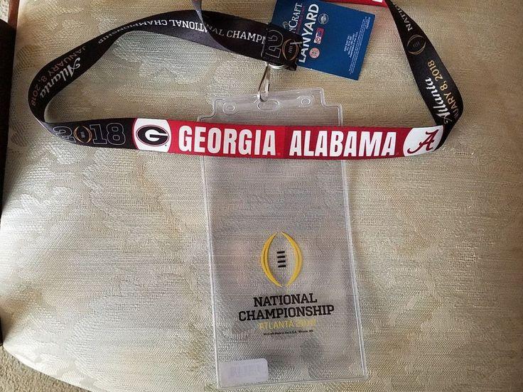 2018 College Football National championship Alabama Lanyard & Ticket holder #WinCraft #AlabamaCrimsonTide