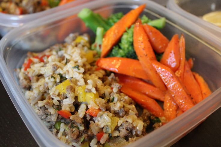 Dirty Rice: Made with ground turkey, brown rice and diced vegetables. Visit website for complete recipe