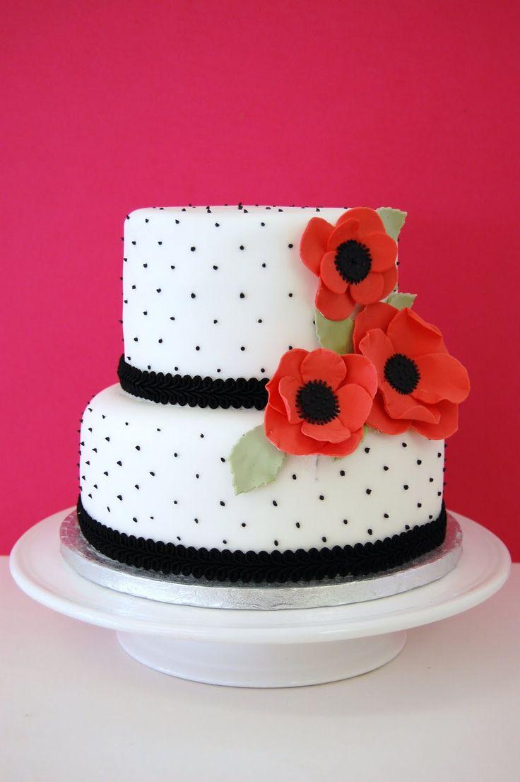 pretty cakes | iced: Pretty Poppy Party Cake