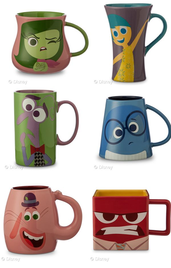 Inside Out - Coffee character mugs. 6 Must Have Inside Out Products the Whole Family Will Love #InsideOutEvent #InsideOut