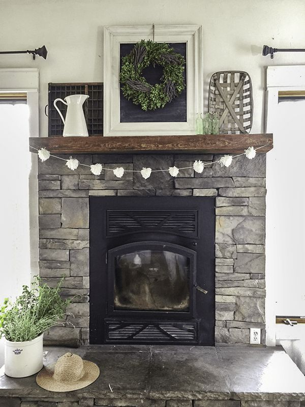 a farmhouse summer home tour part 1 fireplace designgrey stone