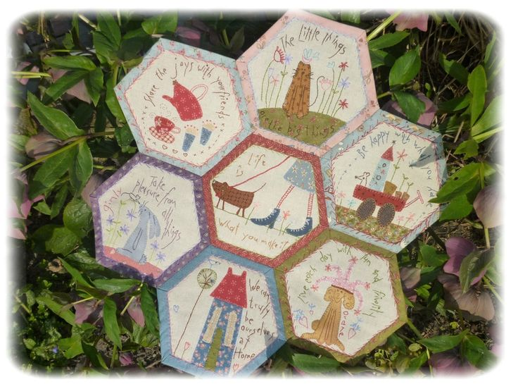 hexagone dessins de Anni Downs