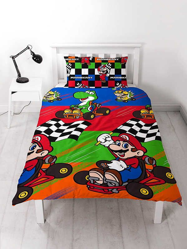 Nintendo Mario Kart Champs Single Duvet Cover Set Polyester £12.95 Free UK Delivery