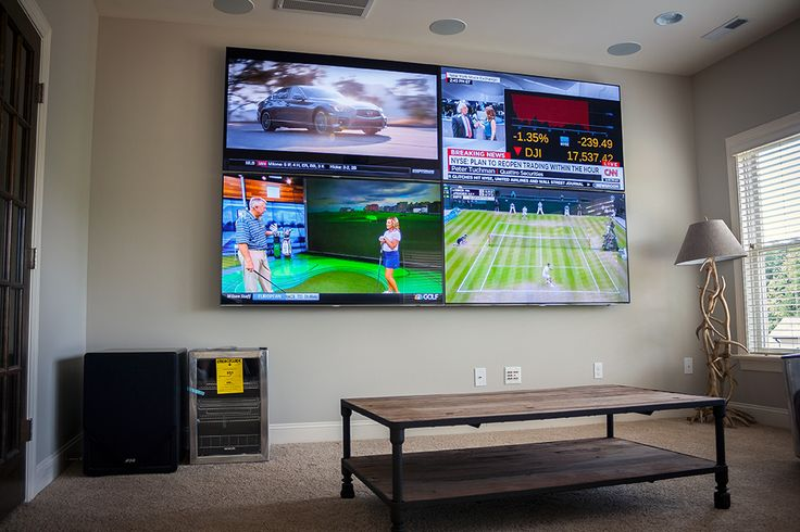 Image Result For 4 Tv Screens Into 1 Wall Display Home