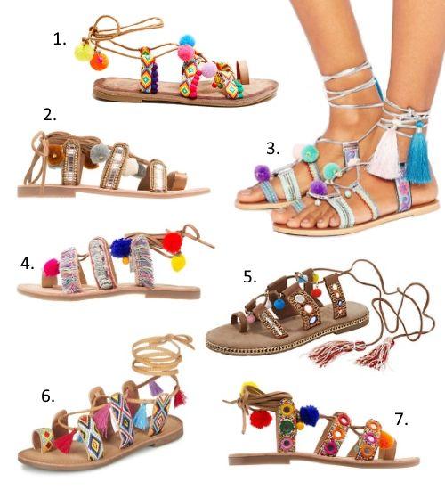 Tendances Chaussures Printemps T 2017 Sandales Lacets Pinterest