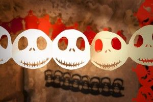 Halloween Girlande Skelettkopf
