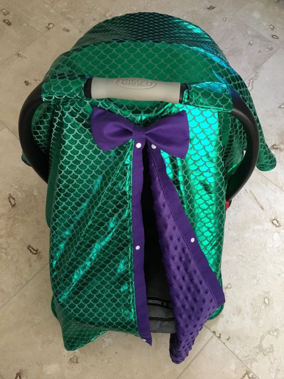 Mermaid Tail Car Seat Canopy Carseat By BabySisterCanopies
