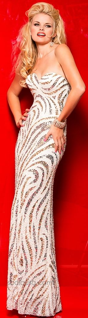 Prom Dresses<BR>Evening Dresses by SCALA<BR>48464<BR>Glitzy Allure!