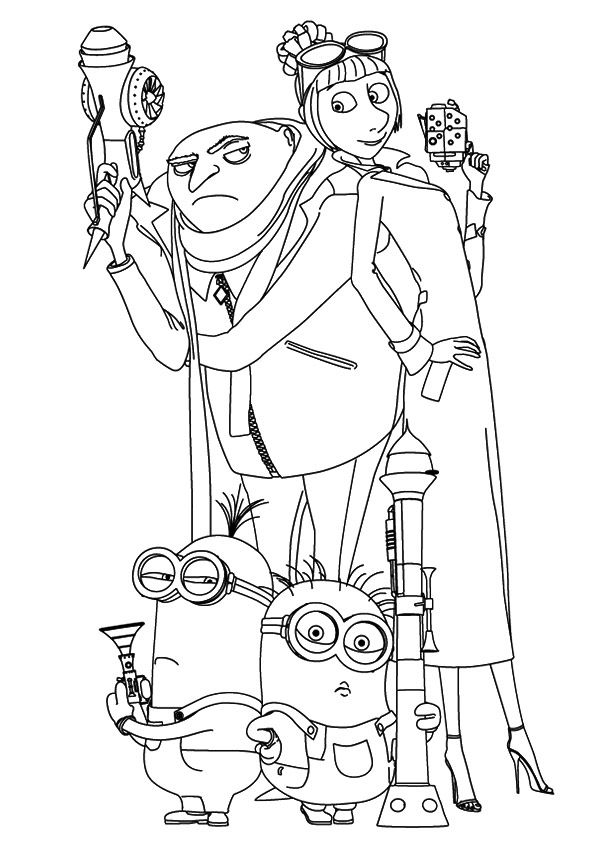 Despicable Me Minions Coloring Coloring Page Minion Coloring Pages Coloring Pages Cute Coloring Pages