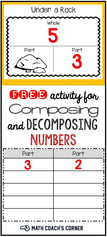 Can you figure out what number is hiding under the rock? Grab this engaging little game for composing and decomposing numbers!