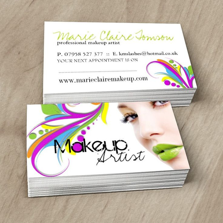 1000 images about Makeup Artist Business Cards on