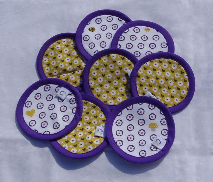 Lingettes lavables vendues par lot de 8 : Puériculture par cafoutine